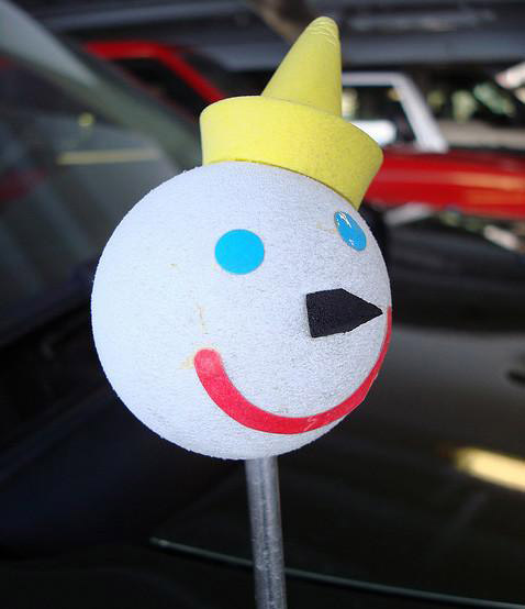 promotional giveaway marketing - jack in the box antenna head