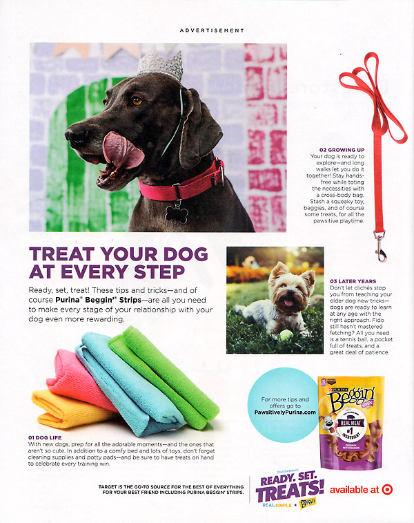 example of native advertising in print - pet treats