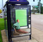 right now is the time to exercise pushups - bus shelter advert