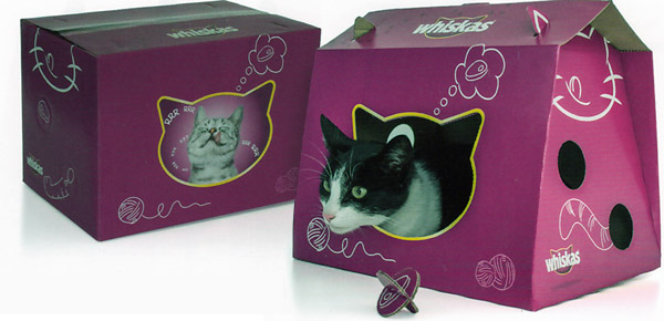 multi purpose packaging | whiskas cat playhouse box