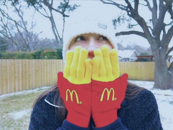 mcdonalds fries winter gloves