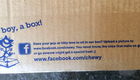 shipping box promotion marketing chewy
