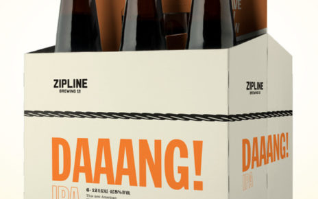 clean, bold packaging for daaang beer