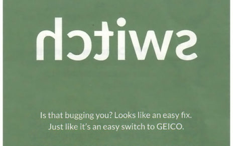 geico switch postcard
