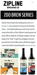 zipline brewery cobranding with omaha zoo
