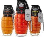 hand grenade hot sauce bottles
