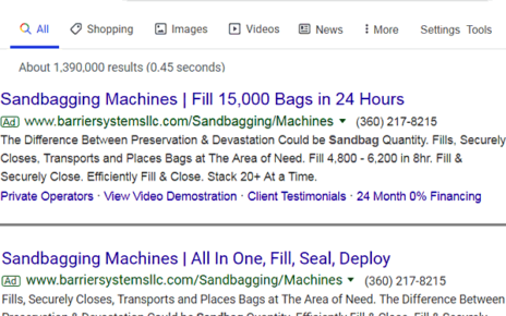 perfect example of adwords headline copy