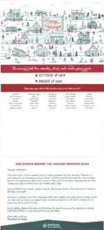 interactive direct mail holiday card | evolve