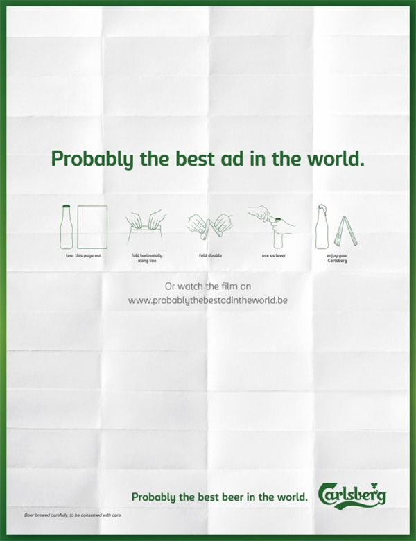 interactive magazine ad | carlsberg beer