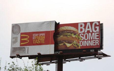 3D billboard | mcdonalds