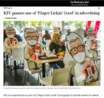 col sanders cutouts maintain social distancing in kfc restaurants