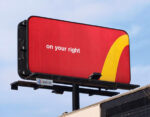 low pressure, soft sell directional billboard
