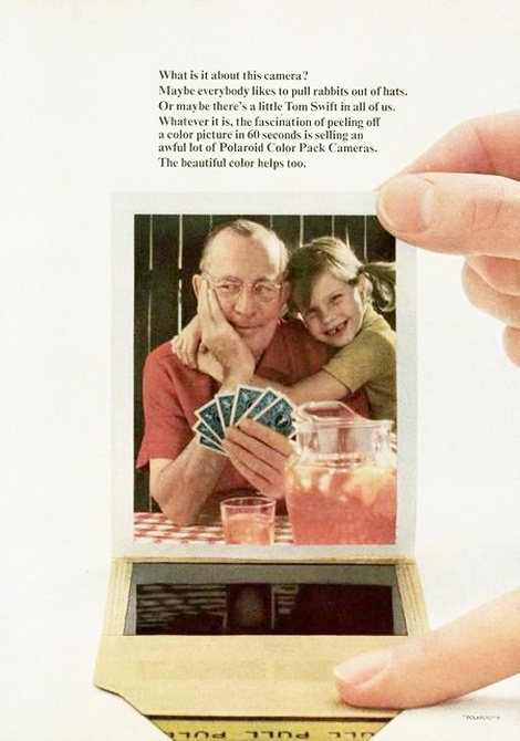 classic vintage polaroid instant camera ads