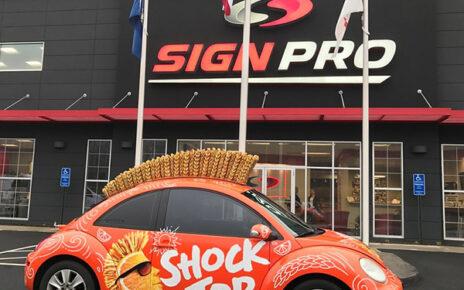 vehicle wrap advertising shock top beer