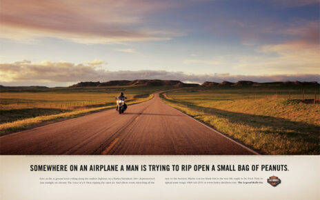 harley davidson ad airline peanuts
