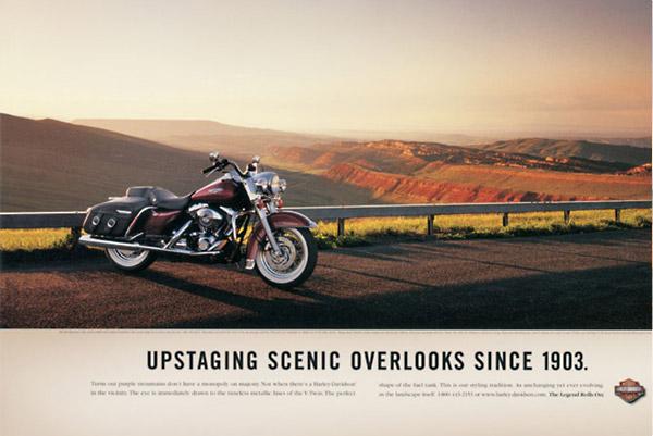 harley davidson ads - upstaging scenic overlooks