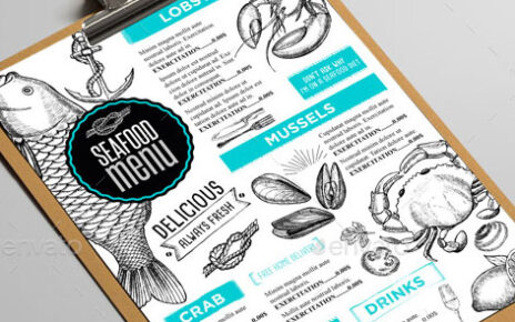 clean attractive menu design layout