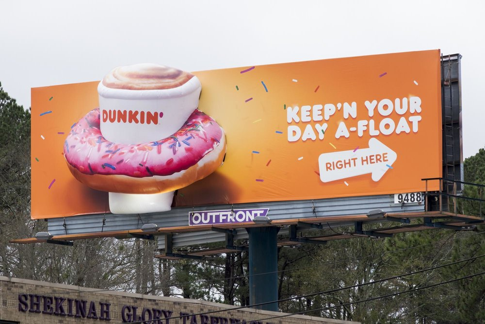 dunkin donut lifesaver billboard