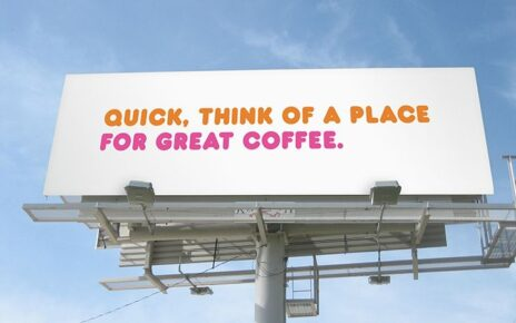 dunkin donut billboard no logo and no name