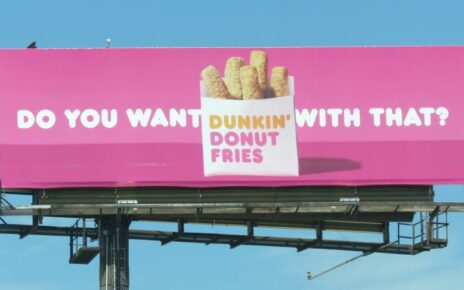 dunkin donut fill in the blank billboard