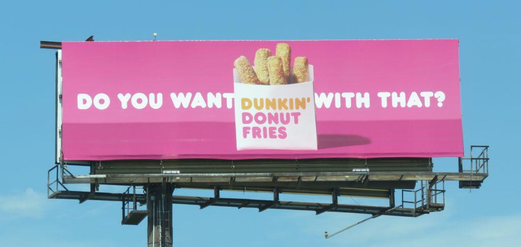 dunkin donut fill in the blank billboard