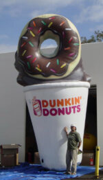 dunkin donuts blowup balloon storefront sign