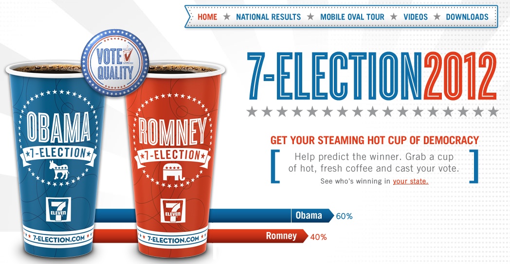 newsjacking presidential election - 7-Eleven