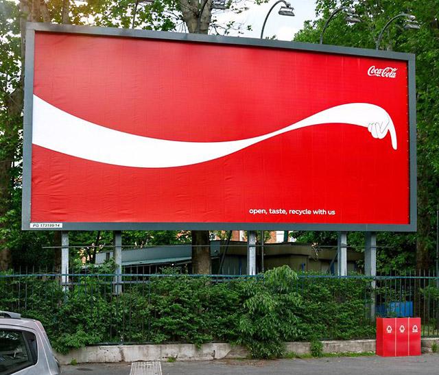 directional billboard coke