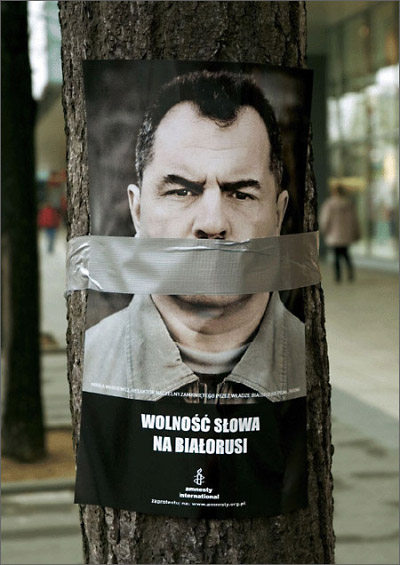 prisoners mouth taped shut poster