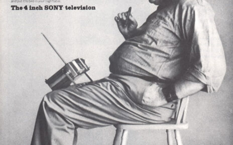 SONY pee wee TV print ad