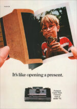 Emotion-focused message - like opening a present - polaroid instant camera